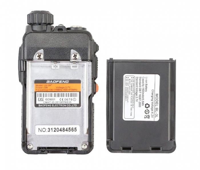 Statie radio Baofeng UV-3R+, Dual Band UHF, VHF, Walkie Talkie , FM tranciever, 99 CH, radio FM 88 - 108 MHz 6