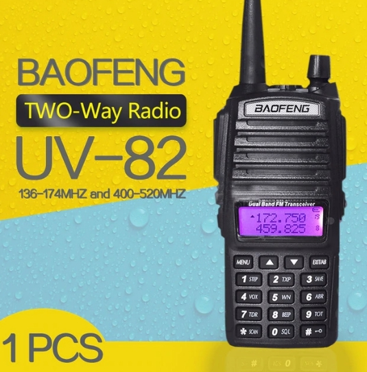 Set 3 statii UV- 82 walkie talkie transiever, 5 W,  dual band VHF, UHF, 2800 mAH , radio FM 4
