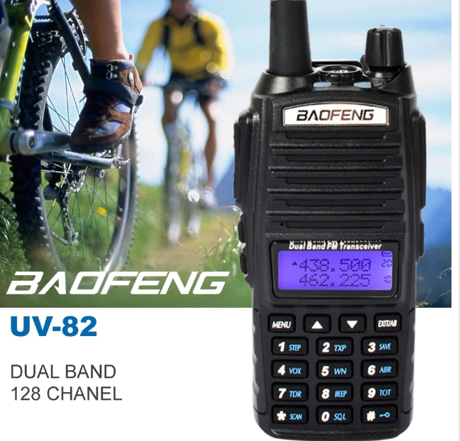 Set 3 statii UV- 82 walkie talkie transiever, 5 W,  dual band VHF, UHF, 2800 mAH , radio FM 1