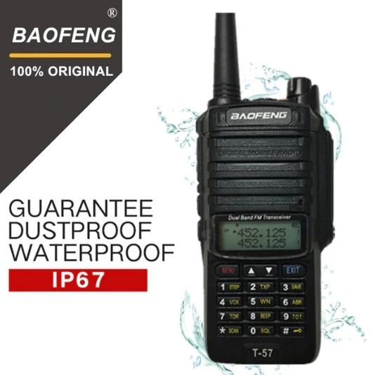 Statie Radio Walkie Talkie Baofeng T-57, ptr conditii extreme dual band 136-174 Mhz, 400-520 Mhz, 5W 0