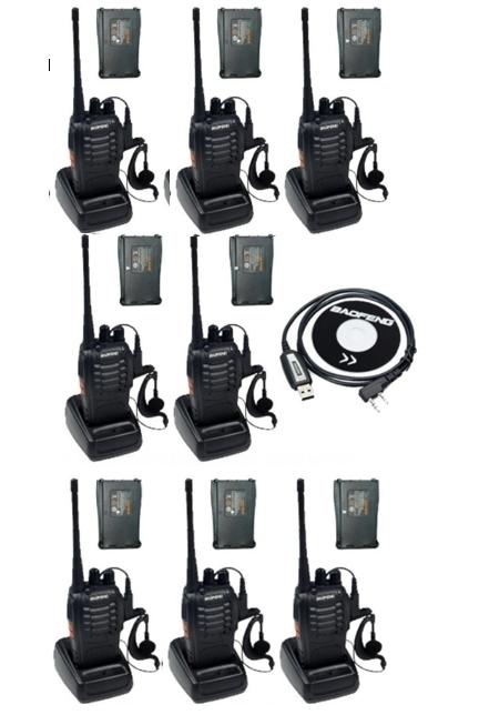 Set 8 buc Baofeng BF-888S cu 16 acumulatori 1500 mAh + Bonus Cablu+CD programare 0