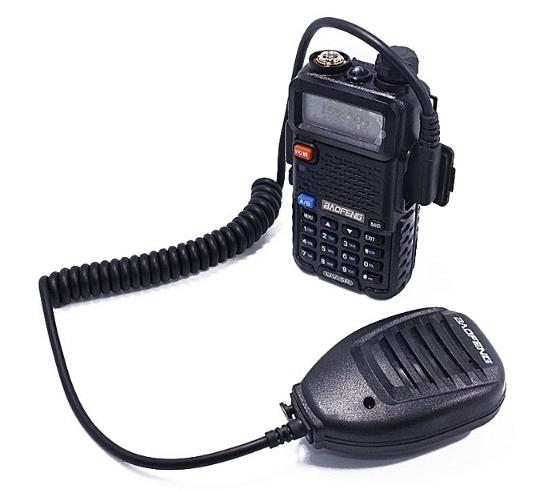 Statie  Radio Walkie Talkie Baofeng UV-5R cu MICROFON exterior, Transceiver Inclus Casti cu microfon 1