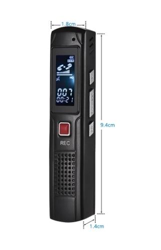 Raldio S013 - reportofon 8GB microfon spion acumulator propriu 350 mAh 1