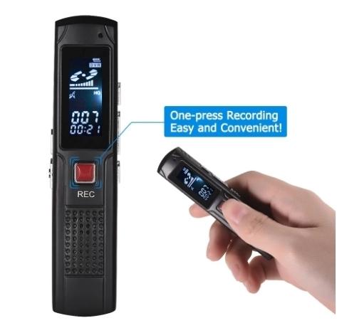 Raldio S013 - reportofon 8GB microfon spion acumulator propriu 350 mAh 3