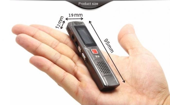 Raldio S013 - reportofon 8GB microfon spion acumulator propriu 350 mAh 5