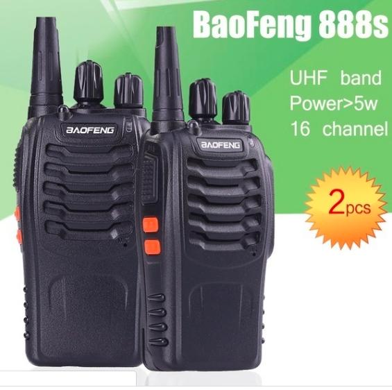 Set 2 buc Baofeng BF-888S UHF 400-470MHz 16CH PROGRAMABILE 0