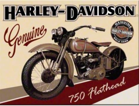 Magnet frigider - Harley Davidson Flathead [0]