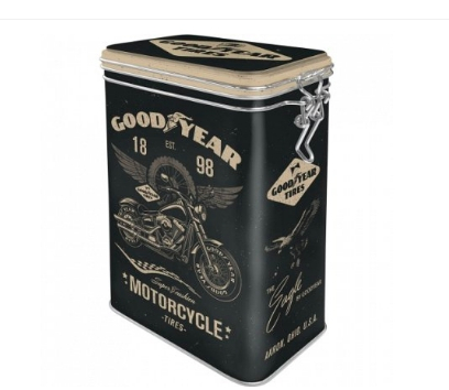 Cutie metalica etansa Goodyear Motorcycle 0