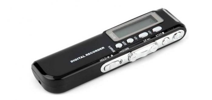 Raldio Microfon spion - reportofon digital 8GB, mp3player 1