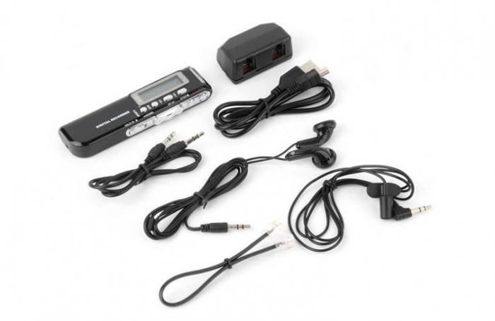 Raldio Microfon spion - reportofon digital 8GB, mp3player 3