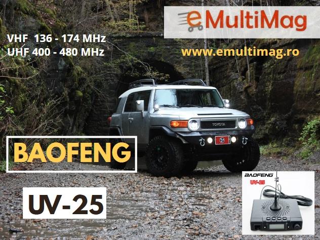 Statie radio mobila  emisie receptie  15W  reglabila Baofeng UV-25; 136 -174 Mhz , 400- 480 Mhz 0