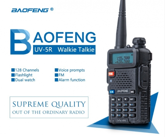 Statie Radio Walkie Talkie Baofeng UV-5R 8W Dual Band Transceiver 2