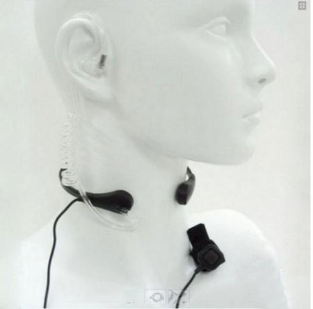 Laringofon cu tub acustic pentru statii emisie receptie cu mufa K0