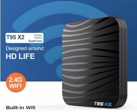 T95X2 Mediaplayer Smart TV Box  2 GB si 16 GB RAM miniPC Android 8.16
