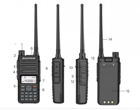 Statie radio digitala Baofeng DM - 1801  Bonus Cablu si CD programare [4]