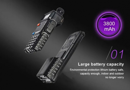 Statie radio BaoFeng UV-5R 5W 3800mAh long Li-ion Battery2