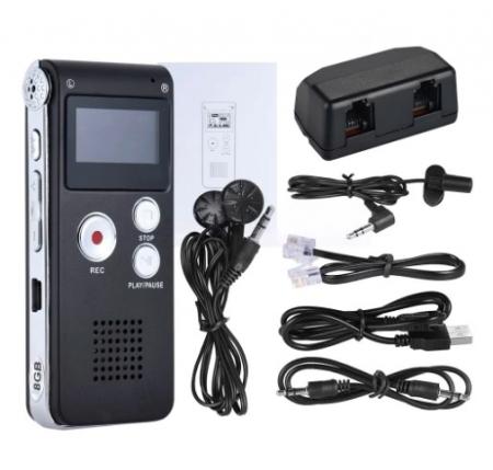 S012 - reportofon 8GB microfon spion acumulator propriu 250 mAh [1]