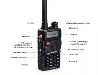 Statie Radio Walkie Talkie Baofeng UV-5R Dual Band Transceiver0