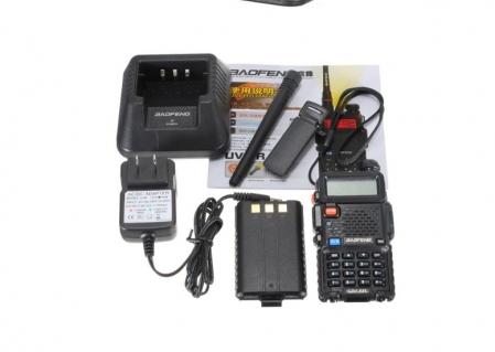 Set 5 statii radio Baofeng UV-5R Dual Band Tranciever + Bonus Casti cu microfon incluse2