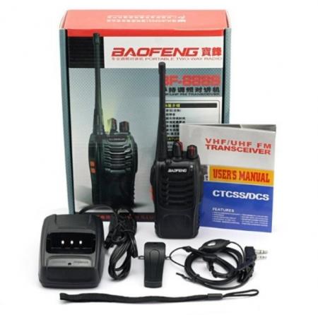 Set 4 buc Baofeng BF-888S cu 8 acumulatori 1500 mAh + Bonus Cablu+CD programare1