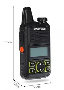 Statie radio Mini Walkie Talkie BF-T1, 20 canale UHF, radio FM  63 MHz - 108 MHZ0