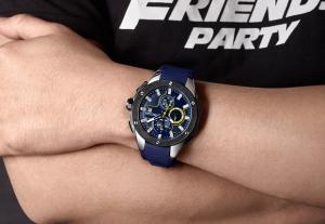 Ceas Megir  8135 - Sport | Cronograf | Albastru | Curea Silicon | [6]