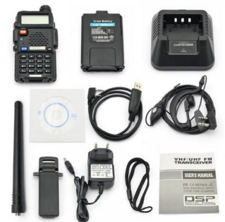 Set 5 statii radio Baofeng UV-5R Dual Band Tranciever + Bonus Casti cu microfon incluse4