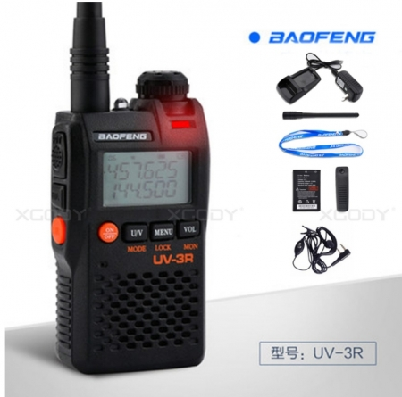 Statie radio Baofeng UV-3R mini Walkie Talkie , FM tranciever, 99 CH, dual band VHF, UHF radio FM2