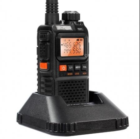Statie radio Baofeng UV-3R+, Dual Band UHF, VHF, Walkie Talkie , FM tranciever, 99 CH, radio FM 88 - 108 MHz1