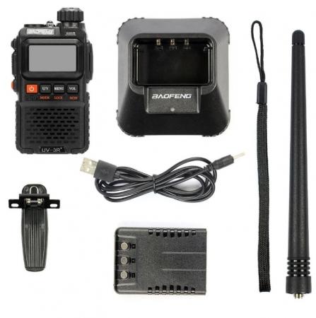 Statie radio Baofeng UV-3R+, Dual Band UHF, VHF, Walkie Talkie , FM tranciever, 99 CH, radio FM 88 - 108 MHz4