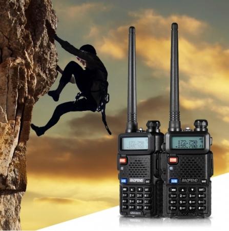 Set 10 statii radio Baofeng UV-5R Dual Band Tranciever + Bonus Casti cu microfon incluse5