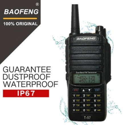 Statie Radio Walkie Talkie Baofeng T-57, ptr conditii extreme dual band 136-174 Mhz, 400-520 Mhz, 5W0