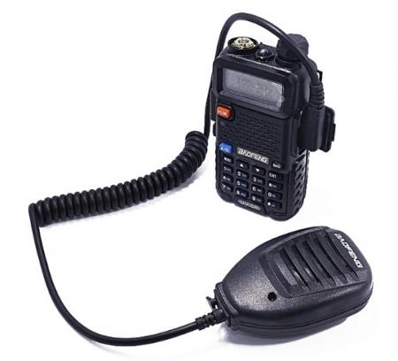 Statie  Radio Walkie Talkie Baofeng UV-5R cu MICROFON exterior, Transceiver Inclus Casti cu microfon1