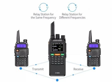 Statie radio emisie receptie profesionala 10W  ZT-889G duplex GPS repetor1