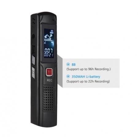 Raldio S013 - reportofon 8GB microfon spion acumulator propriu 350 mAh0