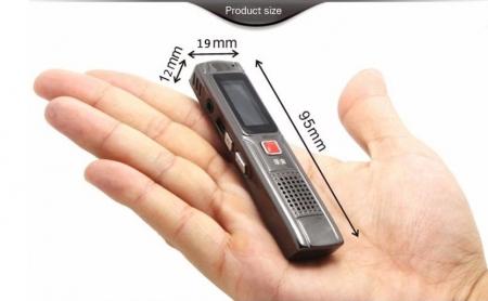 Raldio S013 - reportofon 8GB microfon spion acumulator propriu 350 mAh5