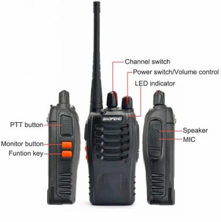 Set 2 buc Baofeng BF-888S UHF 400-470MHz 16CH PROGRAMABILE4