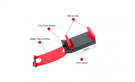 Suport Universal Telefon pentru Volan deschidere 55-80 cm1