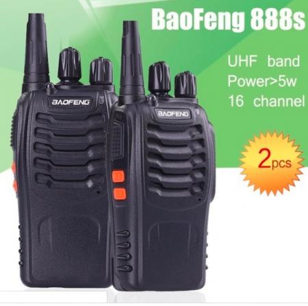Set 2 buc Baofeng BF-888S UHF 400-470MHz 16CH PROGRAMABILE0