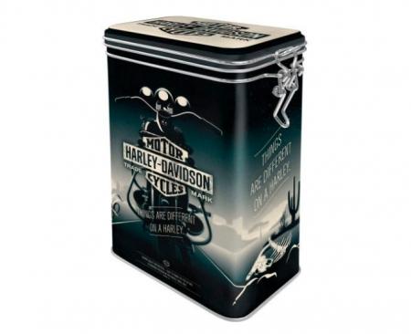 "Cutie Metalica Cafea  capac etans ""Harley-Davidson"""