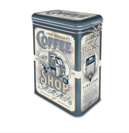 Cutie Metalica capac etans Ape - Coffee Shop 7.5X11x17.5 cm