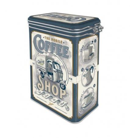 Cutie Metalica capac etans Ape - Coffee Shop 7.5X11x17.5 cm1