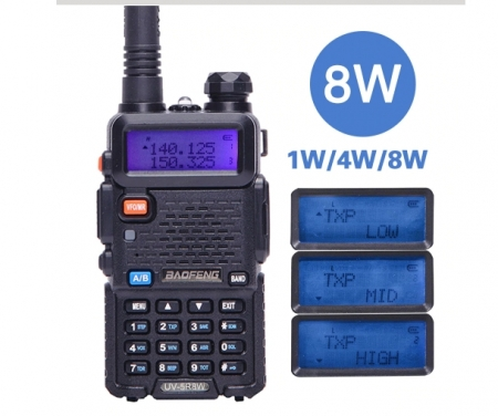 Statie Radio Walkie Talkie Baofeng UV-5R 8W Dual Band Transceiver0