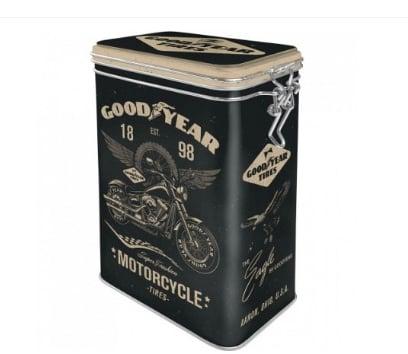 Cutie metalica etansa Goodyear Motorcycle0