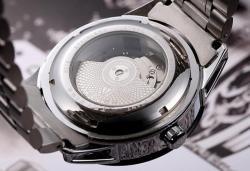 Ceas Tevise AUTOMATIC turbillon open heart, capac transparent, sport2