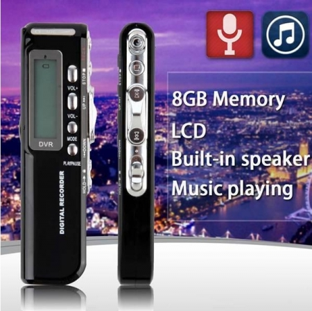 Raldio Microfon spion - reportofon digital 8GB, mp3player0