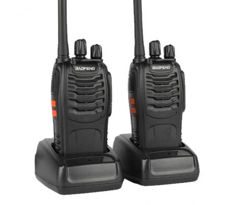 Set 2 statii radio BF-88E , 16 canale PMR 446 ,  antena fixa,  0.5 W0
