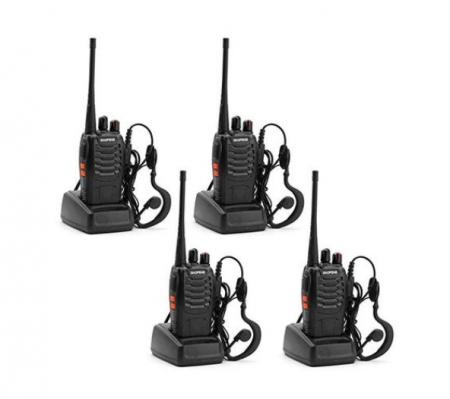 Set 4 buc Statii Radio Walkie Talkie Baofeng BF-888S UHF 400-470MHz 16CH PROGRAMABILE0