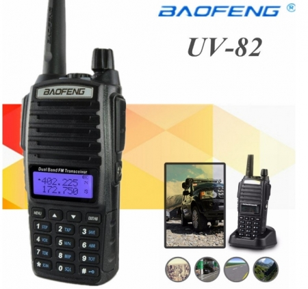 Statie Radio  Baofeng UV-82 Dual Band Transceiver 5W  128 canale , Radio FM1