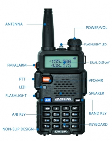 Statie Radio Walkie Talkie Baofeng UV-5R 8W Dual Band Transceiver3